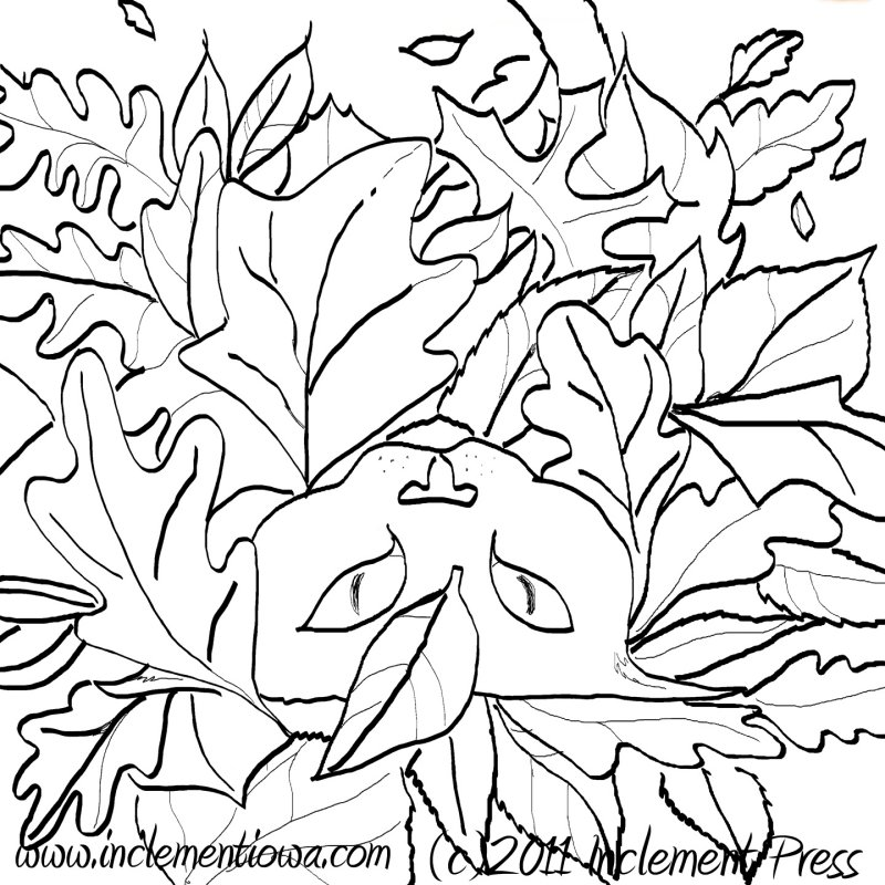 The coloring page---right click, save, and print!